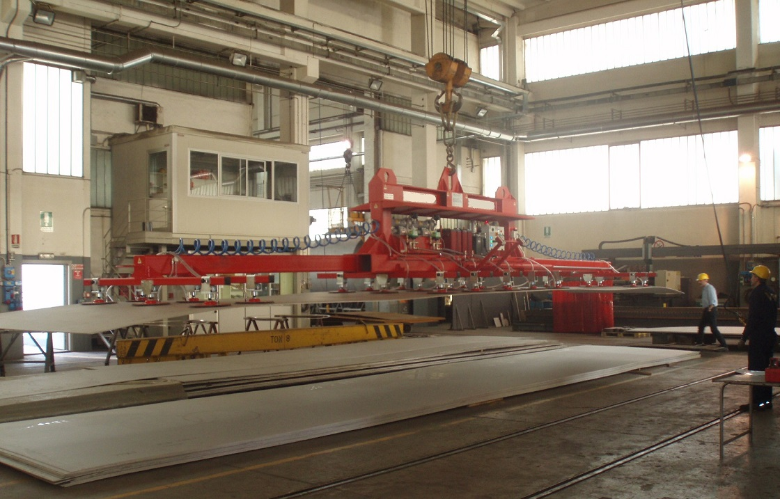 vacuum system telescopic hydraulic for sheet